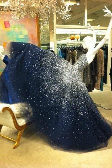 Prom Dress,Prom Dresses,Sparkling Prom Dress,Bling Prom Dress,Long Prom Dress,Beaded Prom Dress,Navy Prom Dresses,Fashion Girl Party Dress,Ball Gown,Ball Gown Prom Dress